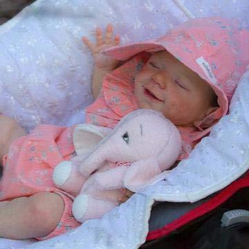 Handgefertigte Wiedergeburt Puppe, Reborn Baby Puppen Full Silikon Vinyl, das Sieht echt schlafendes Baby, 18 Zoll / 46 cm Reborn Baby,Girl