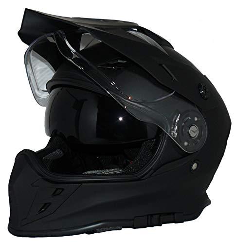 protectWEAR Crosshelm Endurohelm Motorradhelm mit integrierter Sonnenblende und Visier V331-SM-L