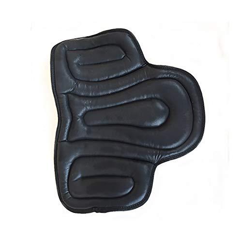 Equine Bareback Pad Half Pad Black Equinate Korrekturpad Filzeinlagen Korrektur Korrektur mit Steigbügel – Reitkissen Reitpad, schwarz