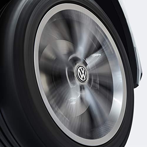 Volkswagen 000071213C Nabenkappe für LM-Felge, dynamisch, mit stehendem Logo im Fahrbetrieb