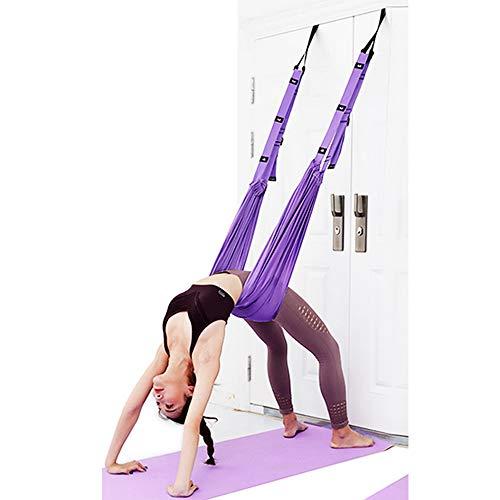 QINGHE Hängematte, Trapezschaukel Set, Yoga Schaukel Nylon Anti-Schwerkraft Hängematte Schlinge Inversion für Pilates Gymnastik, Training vertikal Schaukel Akrobatik Tuch Stoffe Zubehör