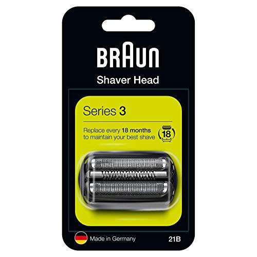 Braun Series 3 21B Elektrorasierer Ersatzscherteil – schwarz – kompatibel mit Series 3 Rasierern