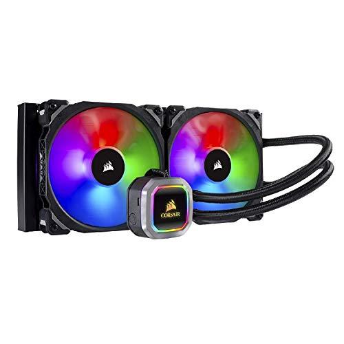 Corsair Hydro Series H115i RGB Platinum Wasserkühlung/CPU-Flüssigkeitskühlung (280mm Radiator, Zwei ML Pro 140mm RGB PWM Lüfter, Erweiterte softwaregesteuerte RGB Beleuchtung) schwarz