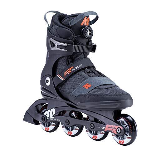 K2 Skates Herren F.I.T. 80 BOA Inline Skates, black-orange, 44.5 EU (10 UK)
