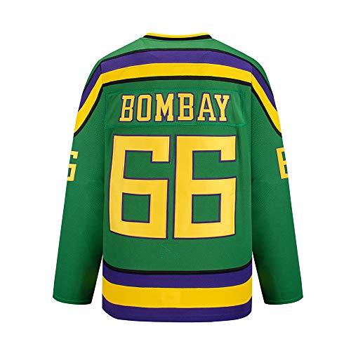 Bombay # 66 Mighty Ducks Vintage Hockey Trikots Filmhockey Trikot S-XXXL,XL