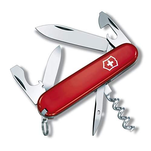 Victorinox Taschenmesser Spartan (12 Funktionen, Klinge, Korkenzieher, Dosenöffner) rot