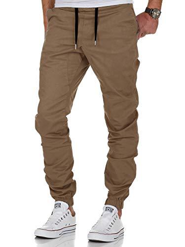 AitosuLa Herren Jogginghose Baumwolle Freizeithose Sport Slim Fit Trainingshose Sweatpants Jogger Pants (Khaki, Large)