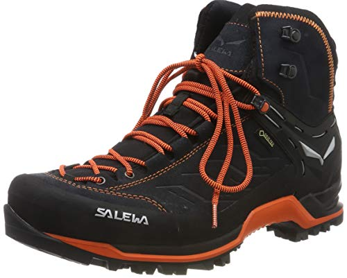 Salewa Herren MS Mountain Trainer Mid Gore-TEX Trekking-& Wanderstiefel, Asphalt/Fluo Orange, 42 EU