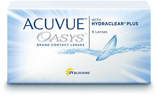 ACUVUE OASYS Kontaktlinsen – 2-Wochen-Linsen für Tag und Nacht mit -2,75 dpt und BC 8.4 – UV Schutz, Austrocknungsschutz & extrem hoher Tragekomfort – 6 Linsen