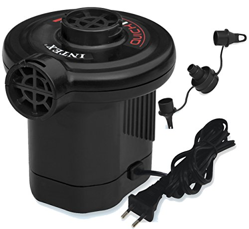 Intex Quick Fill AC Elektrische Pumpe - Elektrische Luftpumpe - Mit 3 Düsenaufsätze