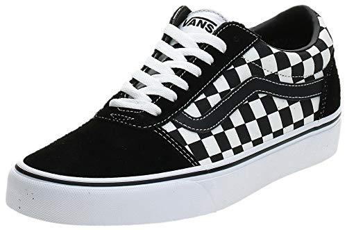 Vans Herren Ward Canvas Sneakers, Schwarz ((Checker) Black/True White Pvj) , 43 EU