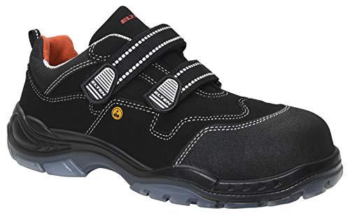 ELTEN Sicherheitsschuhe SID ESD S3, Herren, sportlich, leicht, schwarz, Kunststoffkappe, Klettverschluss - Größe 43