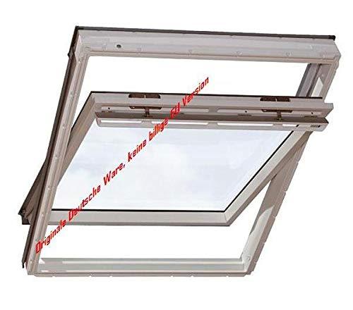 Velux Dachfenster GGU Schwingfenster 55x118cm CK06 0070 Thermo Kunststoff mit Ziegeleindeckrahmen EDZ 0000