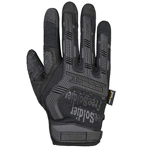 FREE SOLDIER Outdoor Handschuhe Vollfinger Taktische Handschuhe Herren Motorradhandschuhe mit gepolstertem für Fahrrad Airsoft Militär Paintball und andere Outdoor Aktivitäten(L,Schwarz)