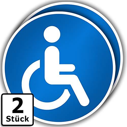 Kavaro 2 Stück Aufkleber Rollstuhlfahrer Auto - Behindertenfahrzeug [15cm]
