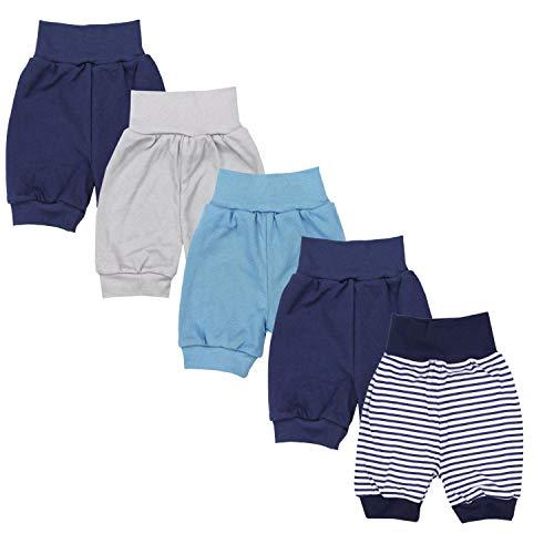TupTam Unisex Baby Pumphose Sommershorts Baumwolle 5er Pack, Farbe: Junge 5, Größe: 74/80
