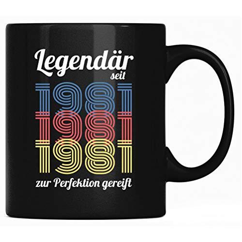 Legendär seit 1981 - 40. Geburtstag Tasse, Nerds Tassen Geschenk, Kaffeetasse Spruch, Nerd Kaffeebecher Geschenke mit Sprüchen lustig, Männer Frauen
