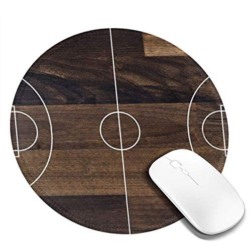 Rundes Mauspad Altes Basketballfeld Bodenspiel Kreis Mausmatte Rutschfeste Gummibasis Mousepad Für Laptop/Computer 20Cm