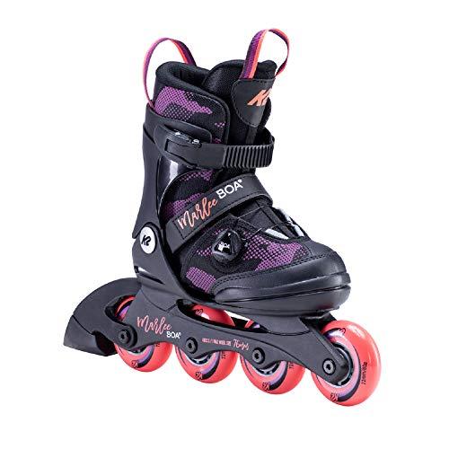 K2 Skates Mädchen MARLEE BOA Inline Skates, black-purple, 32-37 EU