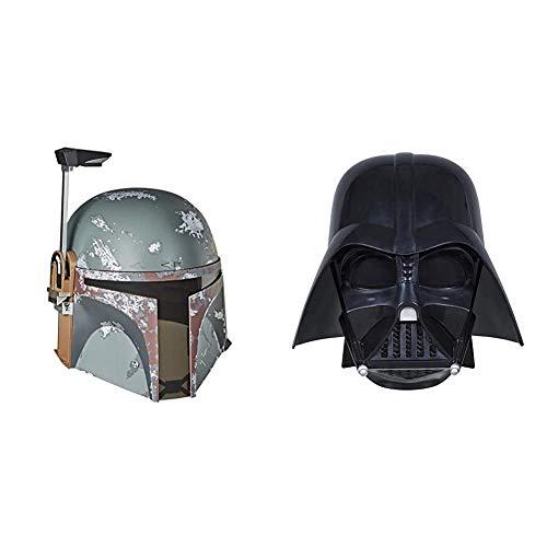 Hasbro Star Wars The Black Series Boba Fett Premium elektronischer Helm & E0328EU4 - Star Wars The Black Series Replica Darth Vader Helm