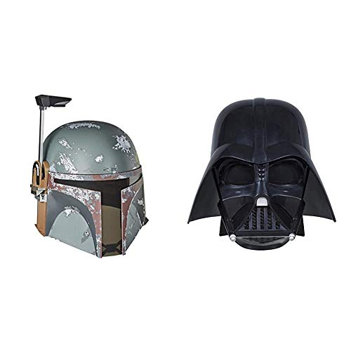 Hasbro Star Wars The Black Series Boba Fett Premium elektronischer Helm & E0328EU4 - Star Wars The Black Series Replica Darth Vader Helm