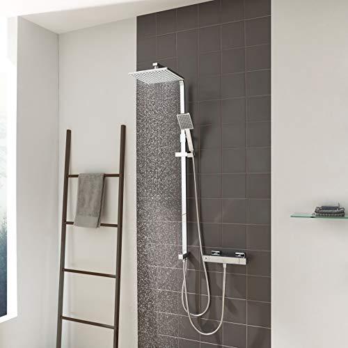 CECIPA Regendusche Duschsystem ohne Armatur, Duschsystem mit 23cm X 23cm Kopfbrause und Handbrause