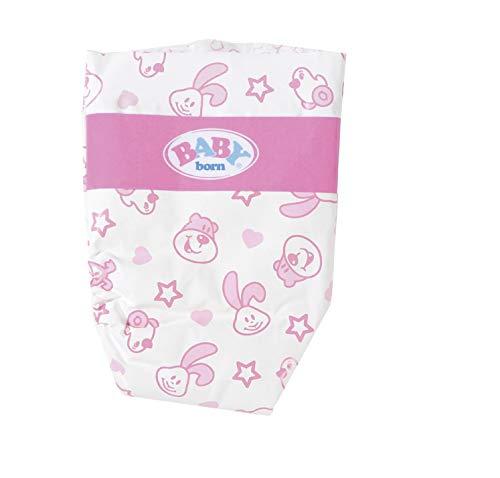 Zapf Creation 826508 BABY born Baby Care Windeln mit süßem Muster, Puppenzubehör, 5 Stück