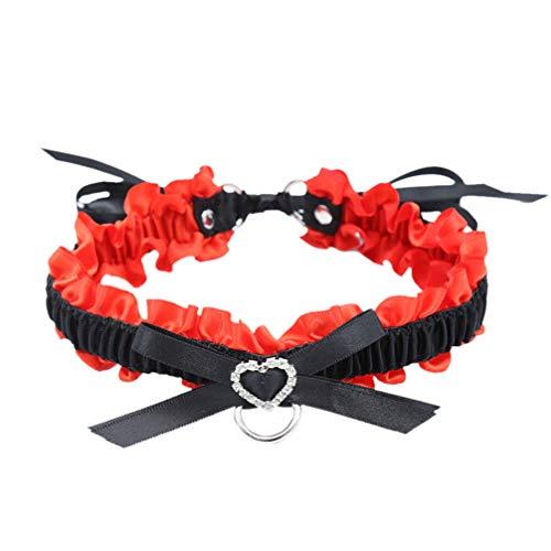 Milisten Spitze Halsreif Verstellbare Halskette Halsband Kragen Glocke Quasten Kette Sex Geschirr Leine Sex Vergnügen Sm Spielzeug für Männer Frauen