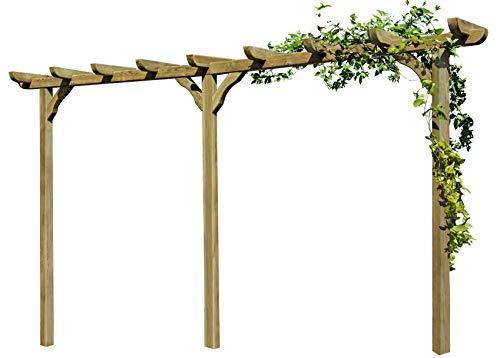 Gartenpirat Pergola aus Holz Torbogen Rankhilfe Länge ca. 450 cm mit Pfosten 9x9cm