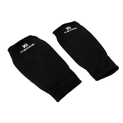 1 Paar Elastische Armstulpe Atmungsaktiv Armschutz Armbedeckung Unterarmschützer Armschützer für Taekwondo Karate Kickboxen Muay Thai - L
