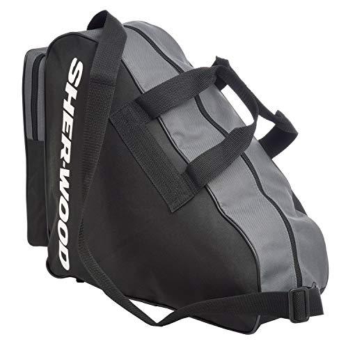 Sherwood Unisex Skate Bag Schlittschuhtasche, Schwarz, 36 x 16 cm EU
