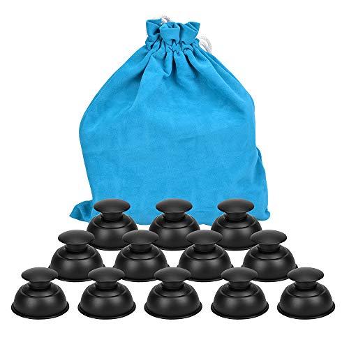 Hydream Silikon Schröpfen Cups, Anti Cellulite Massage Cups Cupping Set Therapie Set Vacuum Tassen Schröpfgläser Body Saugnäpfe Vakuum Massagegerät für Anti Aging, Muskel Entspannung (12PCS/Schwarz)