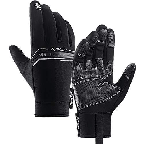 LISM Fahrrad Handschuhe Touchscreen Handschuhe Sporthandschuhe Herren Damen Winter PU Leder Handschuhe für Wandern Snowboard Motorrad Radfahren