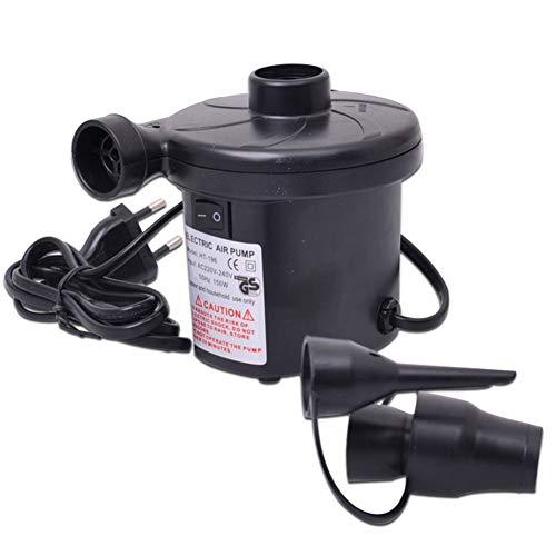 Elektrische Luftpumpe Luftmatratze Elektropumpe 2 in 1 Inflate, Deflate Für Bett Pools Boote Floß Luftmatratzen Aufblasbares Spielzeug,Schwarz