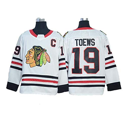MILAOSHU NHL Hockey Trikots Jonathan Toews # 19 Chicago Blackhawks Eishockey Trikots Langarm T-Shirt Männer Frauen Sweatshirts