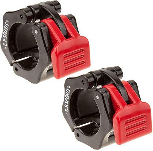 C.P. Sports Schnellverschluss für Hanteln 30 mm I praktischer Hantelverschluss mit Einhandmontage für sicheres Training & schnellen Scheibenwechsel I robuste Kunststoff-Hantelklemme, schwarz