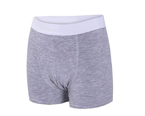 Inkontinenz-Shorts Jungen | Inkontinenzhose mit Saugeinlage | Farbe: grau | waschbar | ActivePro Boys Stone Grey (122-128)