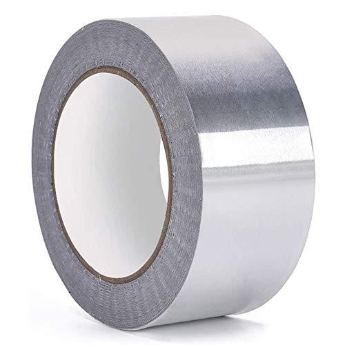 Hochtemperatur klebeband BESLIME Aluminiumband Hitzebeständig, aluminium klebeband, Hitzeschutzband, Wasserdicht Alu-Klebeband, Reißfest UV Beständig (5cm*50m)