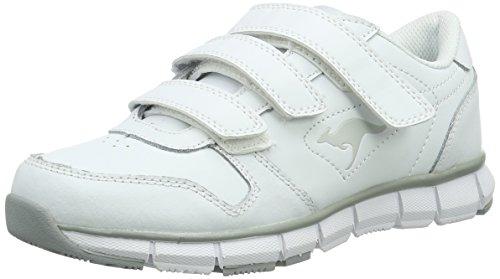 KangaROOS Unisex-Erwachsene K-BlueRun 700 V B Sneaker, White/Silver 0002, 43 EU
