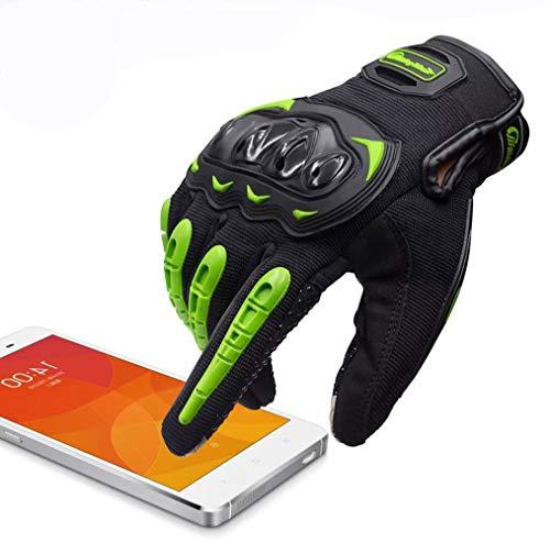 ARTOP Motorradhandschuhe Touch Screen Anti-Rutsch Anti-Kollision Motorrad Handschuhe Sehr Guter Schutz für Herren(Grün, XL)