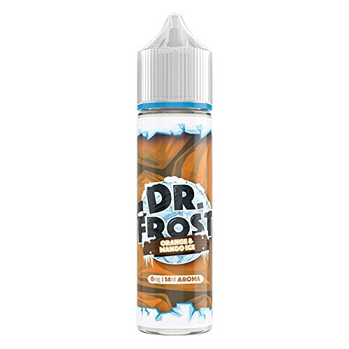 Dr. Frost Aroma Orange & Mango Ice, Longfill Shake and Vape zum Mischen mit Base Liquid für e-Liquid, 0.0 mg Nikotin, 14 ml