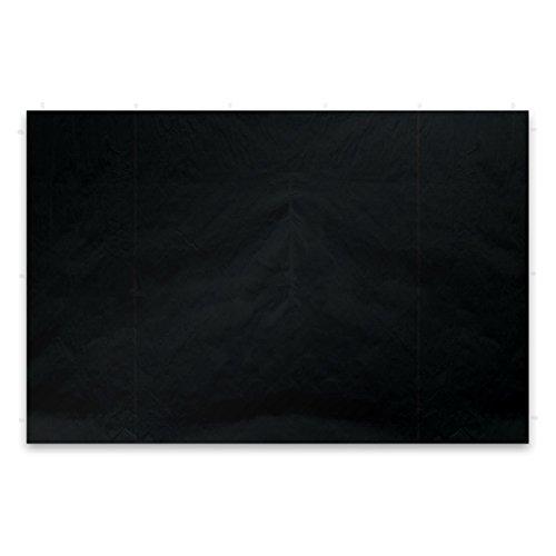 Nexos 2 Stück Seitenwände Seitenteile Ersatzwände ohne Fenster für Falt-Pavillon – 295 x 215 cm/PE 180 g/m² – hochwertig – Farbe: schwarz