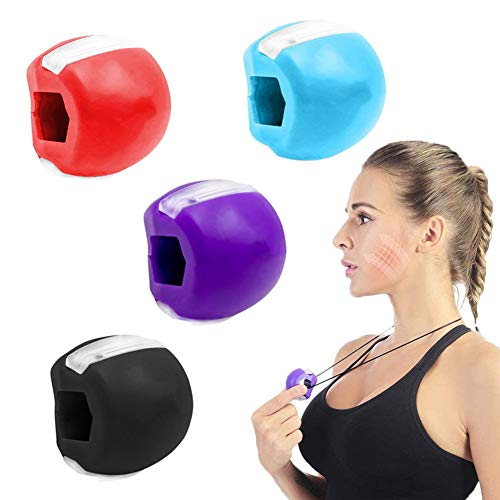 LLMZ Jawline Exerciser Face 4PCS Jawline Trainer and Jaw Training Exercise Device for Double Chin Device for Strengthening and Tightening the Jaw and Neck Area, Defining Your Jaw Line
