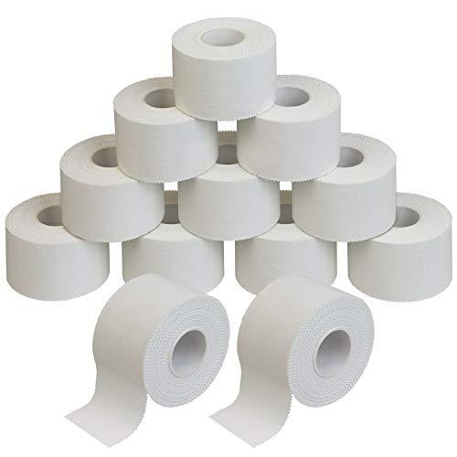 ALPIDEX 12 Rollen Sport Tape Set 3,8 cm x 10 m Tapeverband weiß
