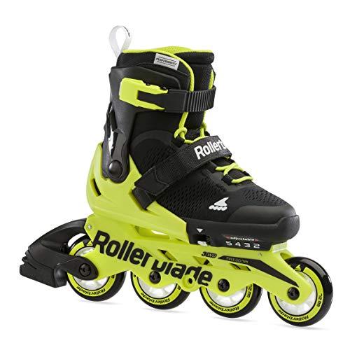 Rollerblade Unisex Jugend MICROBLADE Inline-Skate, SCHWARZ/NEON GELB, 175