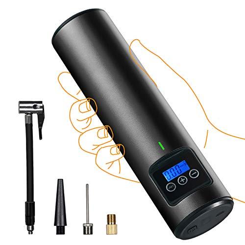 AOLVO Wireless elektrische Luftpumpe, 2. Gen max. 150 PSI wiederaufladbare Mini-Luftpumpe Auto-Luftpumpe mit LED-Licht, schnurloser tragbarer Mini-Auto-Reifenfüller für aufblasbare Fahrradkugeln