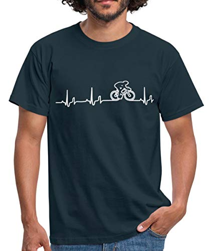 Rennrad EKG Fahrrad Rennradfahrer Bike Männer T-Shirt, XXL, Navy