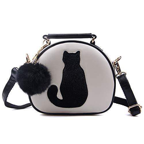 LUI SUI Damen Nette Katze Tote Schultertasche Crossbody Handtaschen Top Griff Stilvolle Taschen