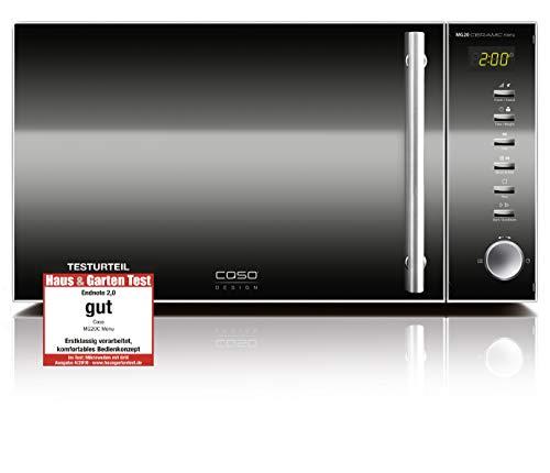 CASO   MG20 Ceramic menu 2-in-1 Mikrowelle mit Grill   Keramikboden und Grill-Rost für 2 Ebenen, 900 W, 1000 W Grill, 20 L, Edelstahl, verspiegelt