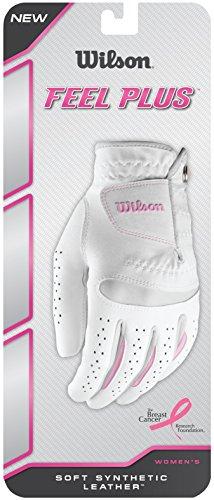 Wilson Damen Golfhandschuh, Größe S, Links, LLH, Weiß, Feel Plus, WGJA00770S